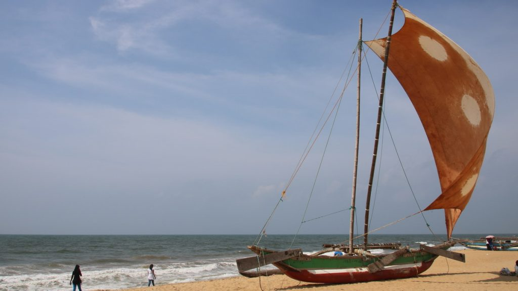 The coast at Negombo