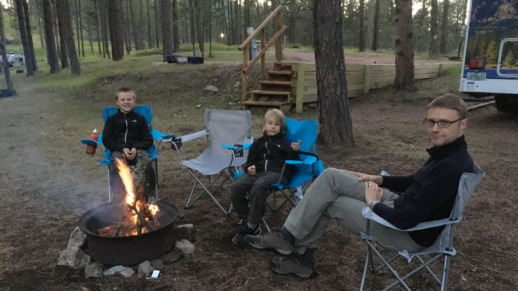 Enjoying life around the fire pit