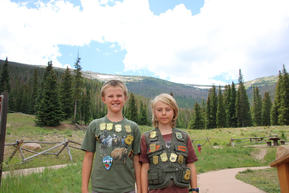 Junior rangers in Rocky Mountain NP