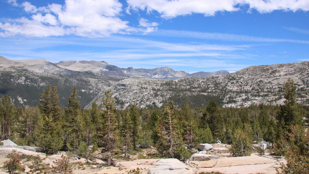 View from the pass above Lyell canyon
