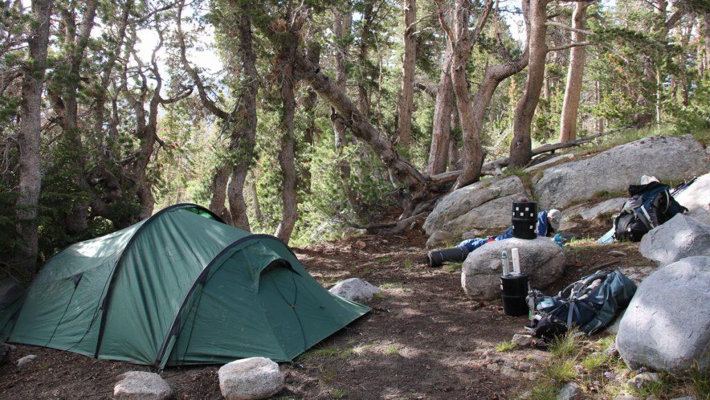 Camp near Fletcher Lake