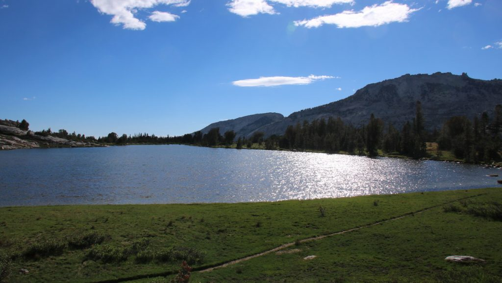 View over Fletcher lake from the camp