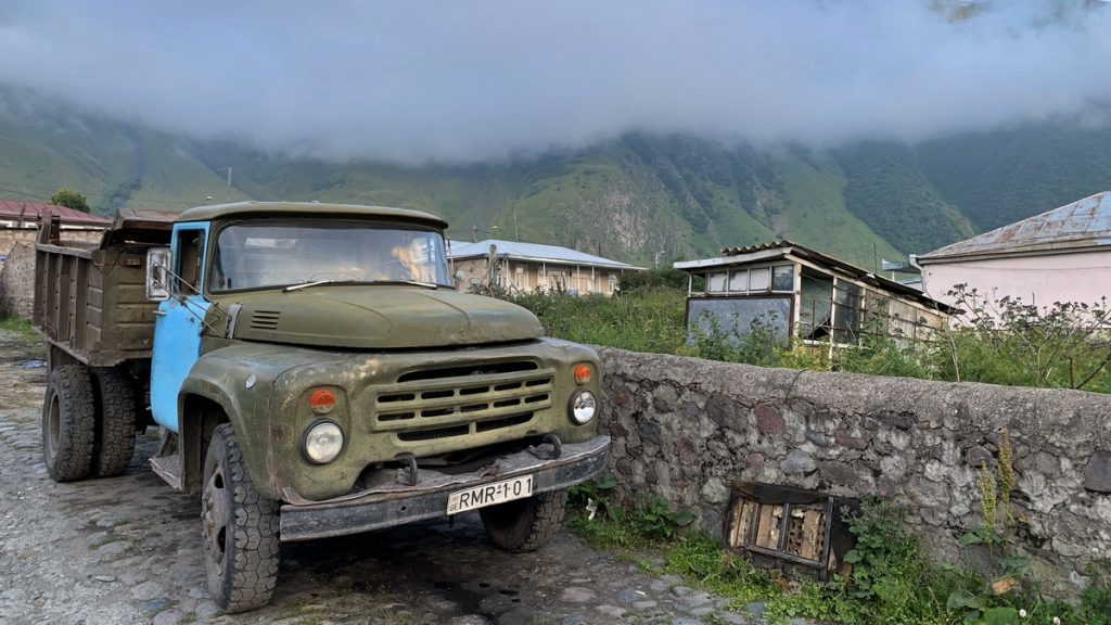 Russian truck in Mestia