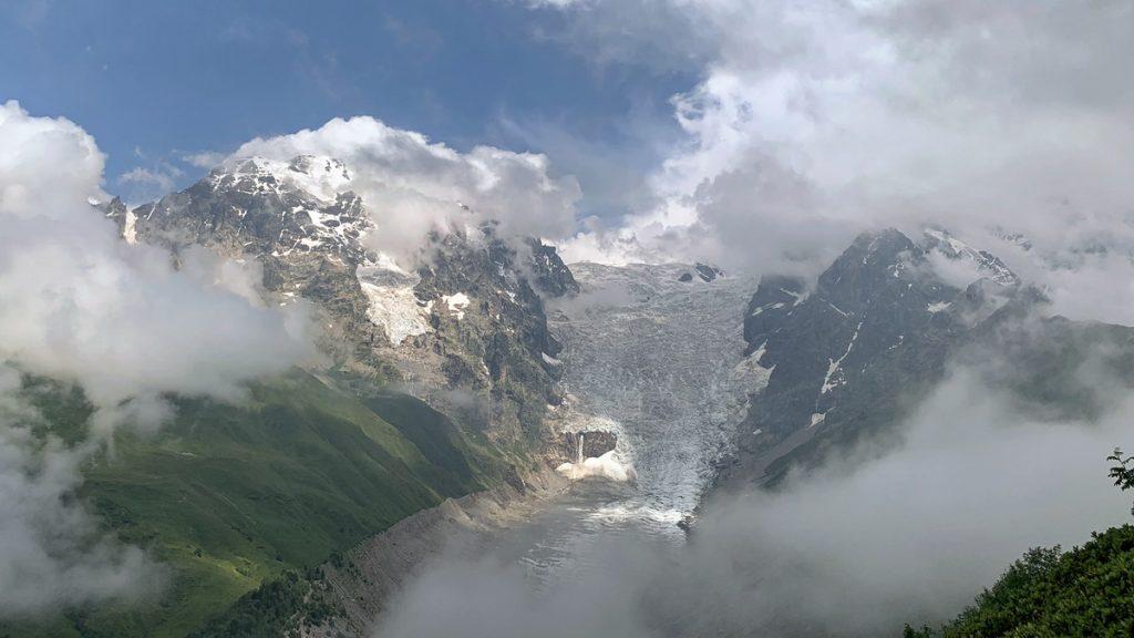 The Adishi glacier at the Russian border