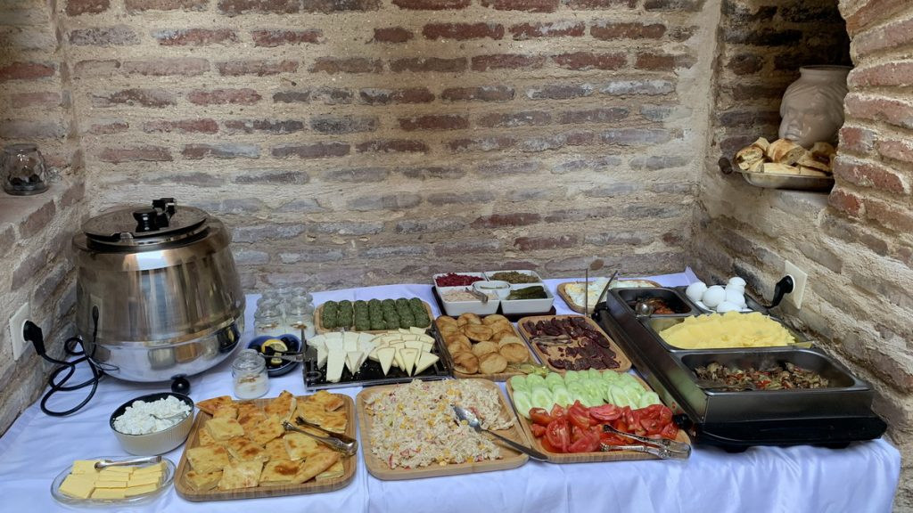 Breakfast buffet with some gluten free options