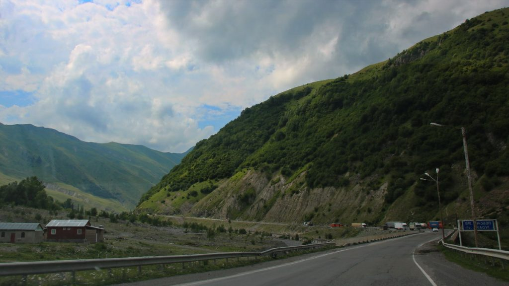 Svaneti mountian road