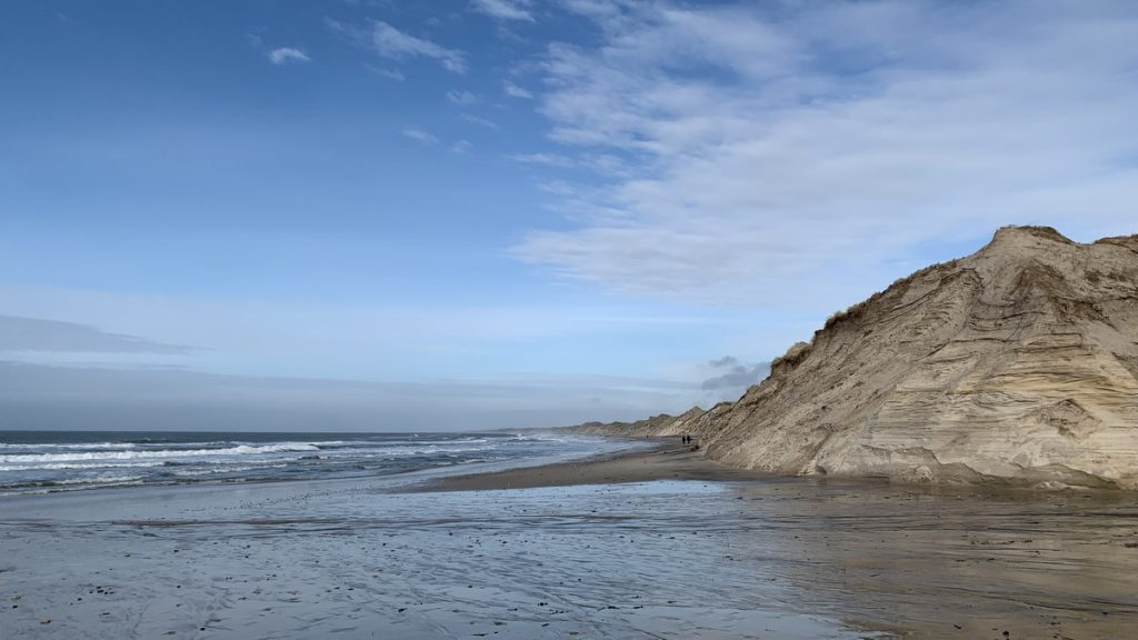 The west coast of Denmark at Nørre Vorupør
