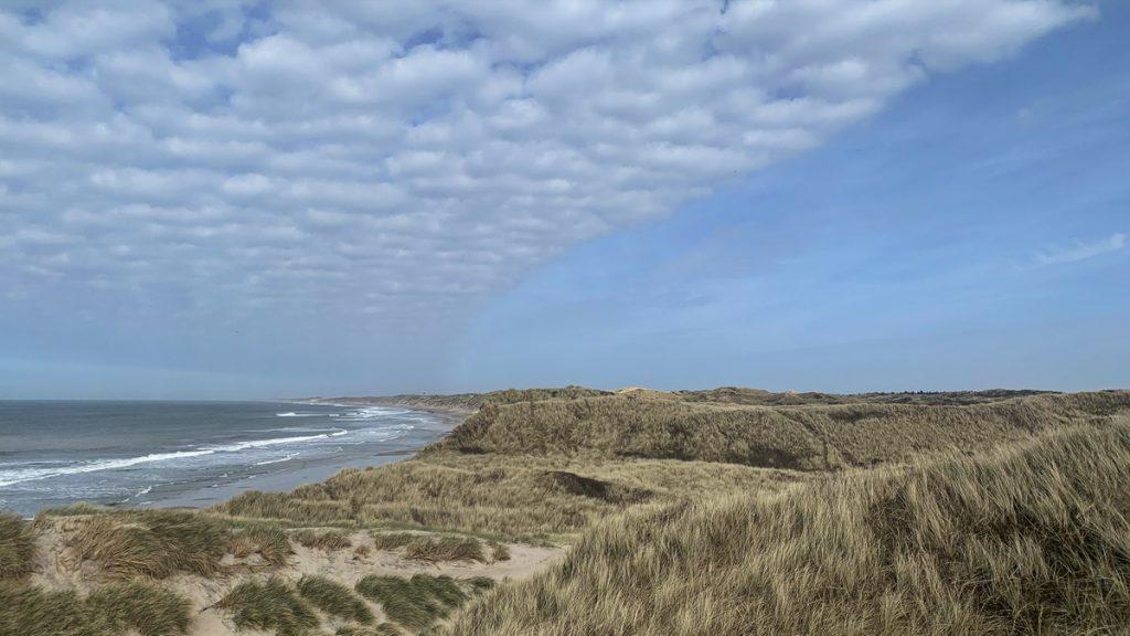 Beach and dunes at Nørre Vorupør