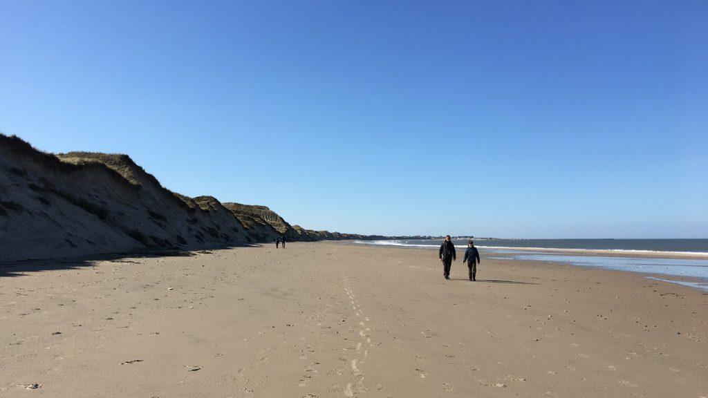 The beach near Lodbjerg lighthouse